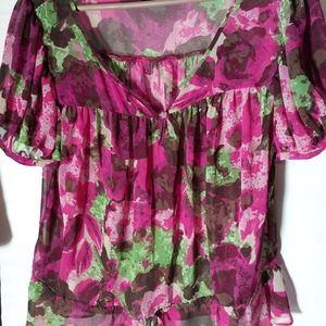 Ana Floral Blouse Top